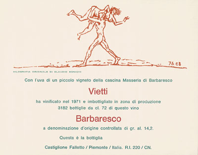 Claudio Bonichi  - Barbaresco 1971 Masseria
