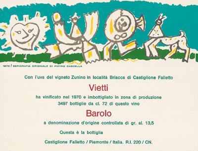 Pietro Cascella- Barolo 1970 Briacca