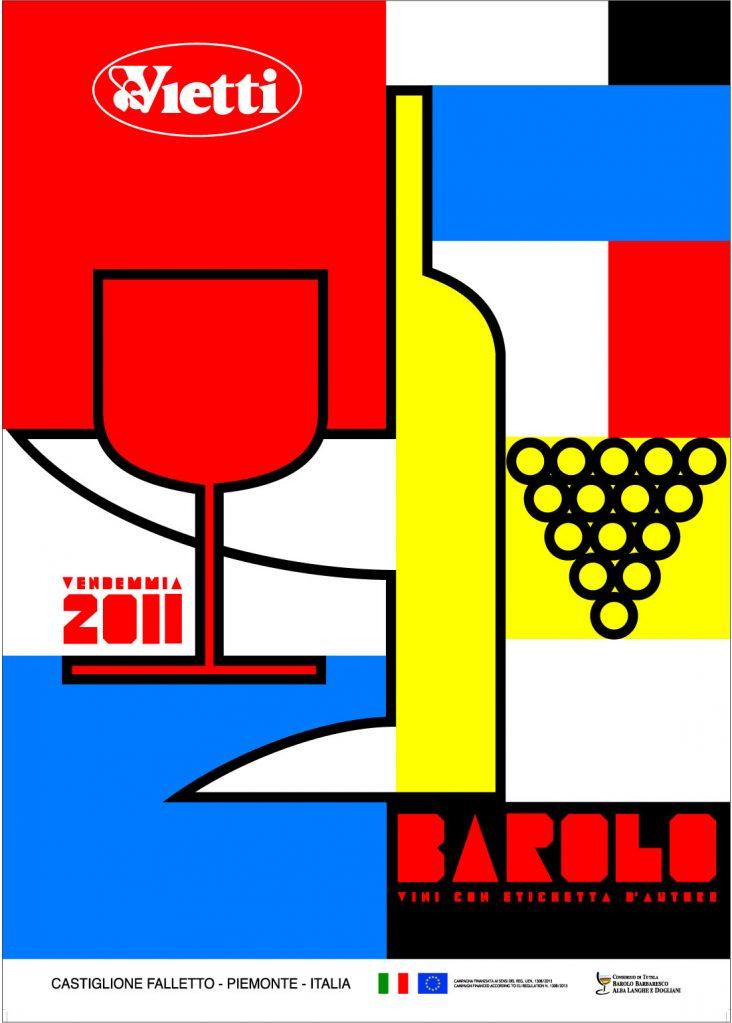 Poster 2011 Barolo Vintage Bruno Sacchetto