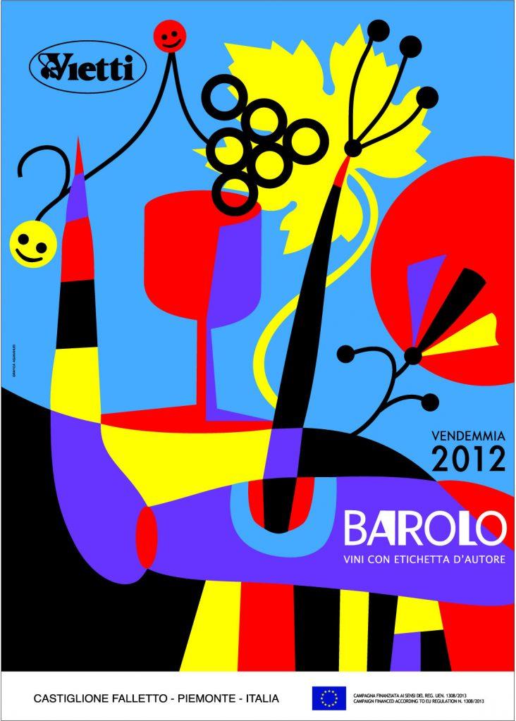 Poster 2012 Barolo Vintage Bruno Sacchetto