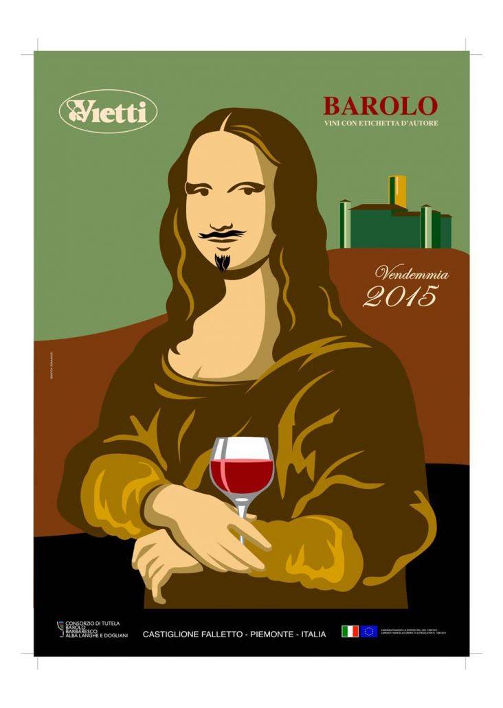 Poster 2015 Barolo Vintage Bruno Sacchetto