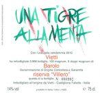 Barolo 2013 Riserva Villero - Etichetta realizzata da