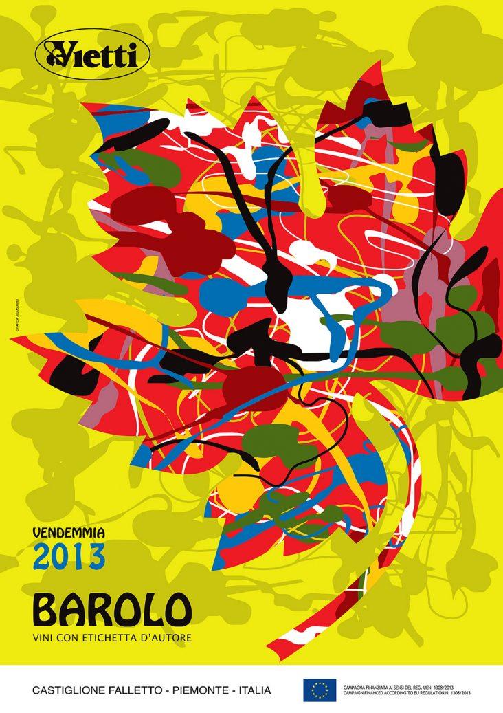 Poster 2013 Barolo Vintage Bruno Sacchetto